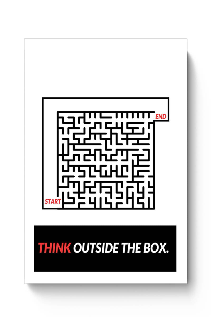 Think Outside The Box Illustration Poster