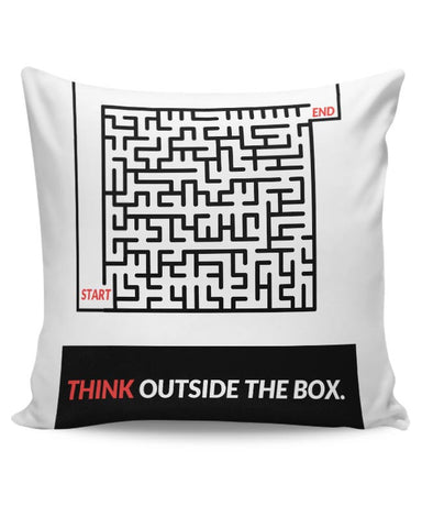 Think Outside The Box Illustration Cushion Cover Online India