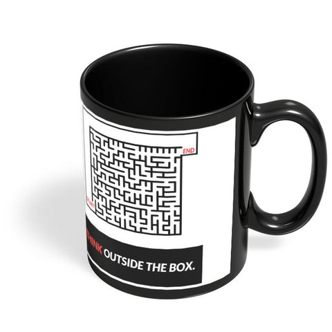 Think Outside The Box Illustration Black Coffee Mug Online India
