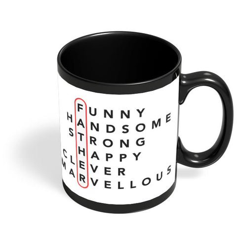 Father Abbreviation Black Coffee Mug Online India