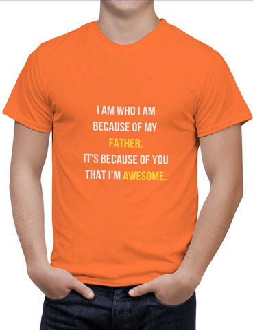 Buy Father I'M Awesome Woman T-Shirts Online India | Father I'M Awesome T-Shirt | PosterGuy.in