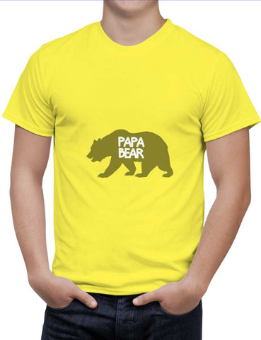 Buy Papa Bear Woman T-Shirts Online India | Papa Bear T-Shirt | PosterGuy.in