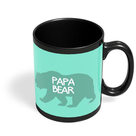Papa Bear Black Coffee Mug Online India