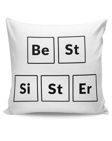 Best Sister Periodic Table Cushion Cover Online India
