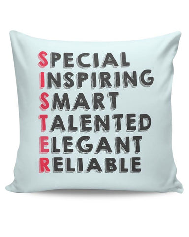 Sister Abbreviation Cushion Cover Online India