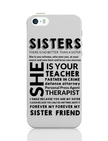 Sister Descriptiion From A Brother iPhone 5/5S Covers Cases Online India