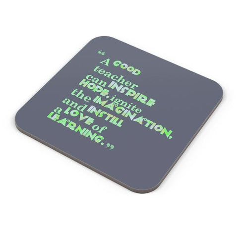 A Good Teacher Quote Typo | For Teachers Coaster Online India