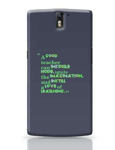A Good Teacher Quote Typo | For Teachers OnePlus One Covers Cases Online India