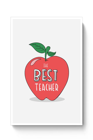 The Best Teacher | Apple Illustration | For Teacher Poster Online India
