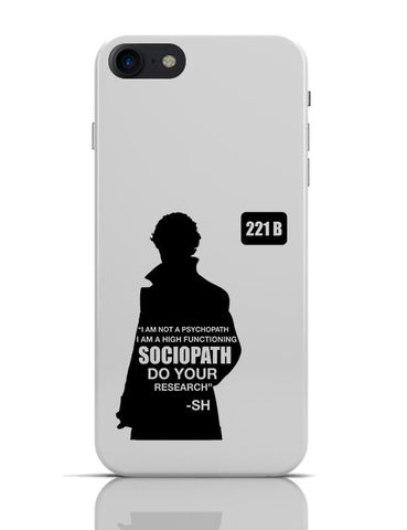 Not a Pshychopath | High Functioning Sociopath | Sherlock Holmes OnePlus 3 Covers Cases iPhone 7 Covers Cases Online India
