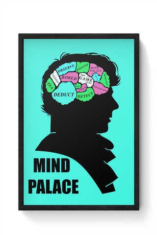 Mind Palace Illustration | Sherlock Holmes Framed Poster Online India
