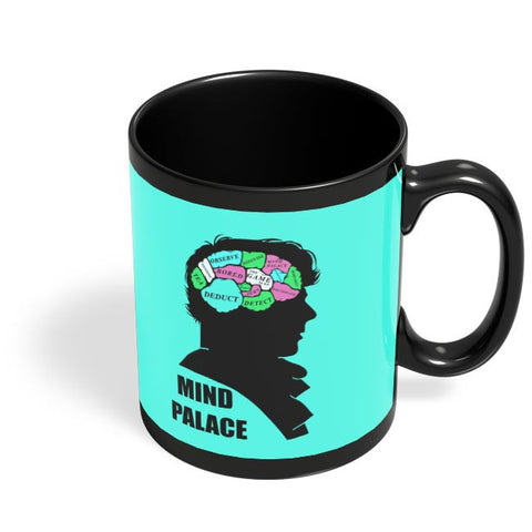 Mind Palace Illustration | Sherlock Holmes Black Coffee Mug Online India