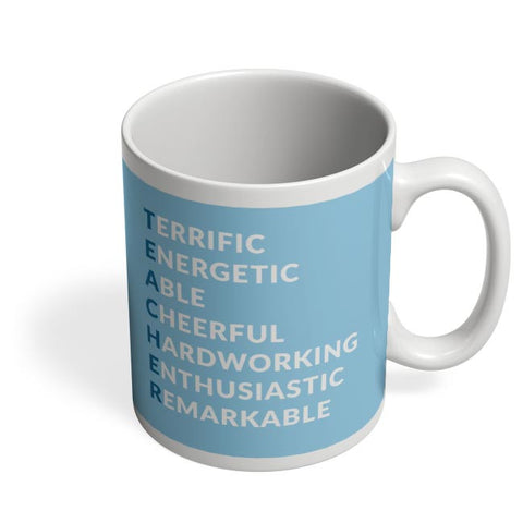 Teacher Abbreviation | For Teachers Coffee Mug Online India