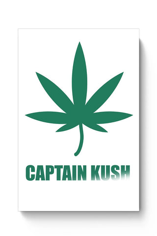 Captain Kush Funny Weed Illustration Poster Online India