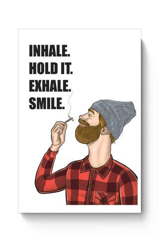 Inhale. Hold. Exhale. Smile. | Digital Art Poster Online India
