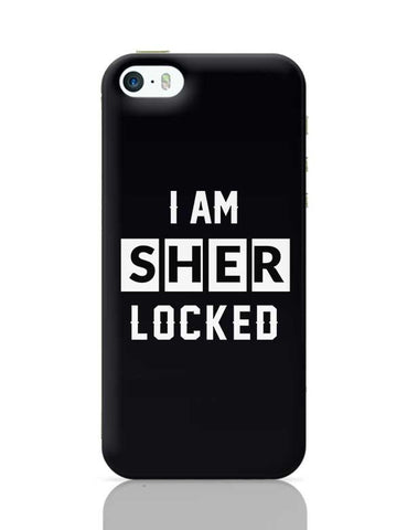 I Am Sherlocked Typography iPhone 5/5S Covers Cases Online India