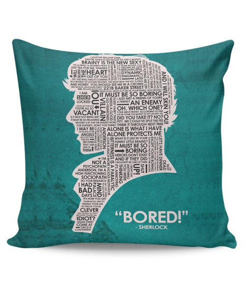 Sherlock Quotes Fan Art Cushion Cover Online India