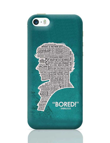 Sherlock Quotes Fan Art iPhone 5/5S Covers Cases Online India