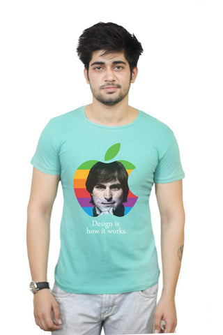 Buy Funny T-Shirts Online India | Steve Jobs | Design Is How It Works T-Shirt Funky, Cool, T-Shirts | PosterGuy.in