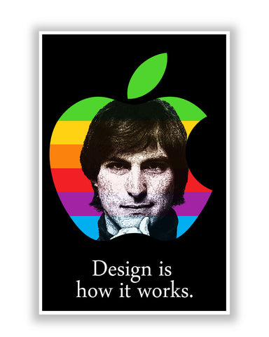 Buy Motivational Posters Online | Design is How it Works Steve Jobs Poster | PosterGuy.in