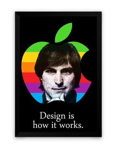 Framed Poster | Design is How it Works Steve Jobs Framed Poster PosterGuy.in