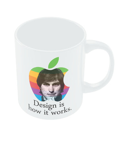 Design is How it Works Steve Jobs Coffee Mug Online India