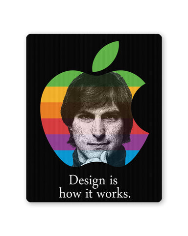 Mouse Pads | Design is How it Works Steve Jobs Mouse Pad Online India | PosterGuy.in