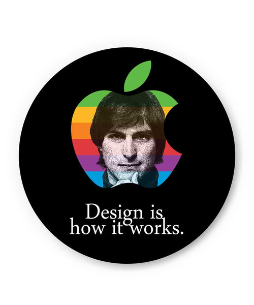 Design is How it Works Steve Jobs Fridge Magnet Online India