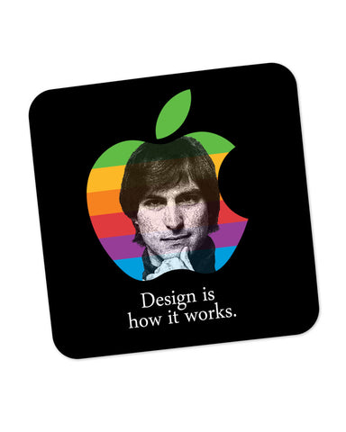 Design is How it Works Steve Jobs Coaster Online India