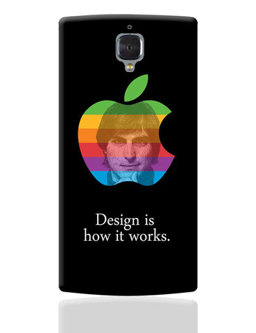 Design is How it Works Steve Jobs OnePlus 3 Cover Online India
