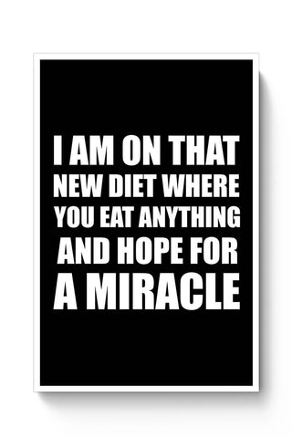 Miracle Diet Plan | Funny Typo Poster Online India