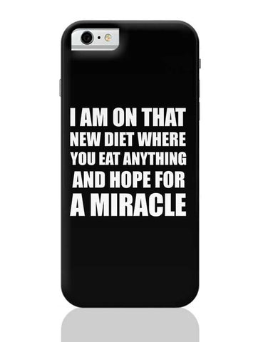 Miracle Diet Plan | Funny Typo iPhone 6 / 6S Covers Cases