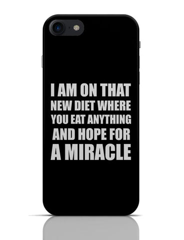 Miracle Diet Plan | Funny Typo iPhone 7 Covers Cases Online India