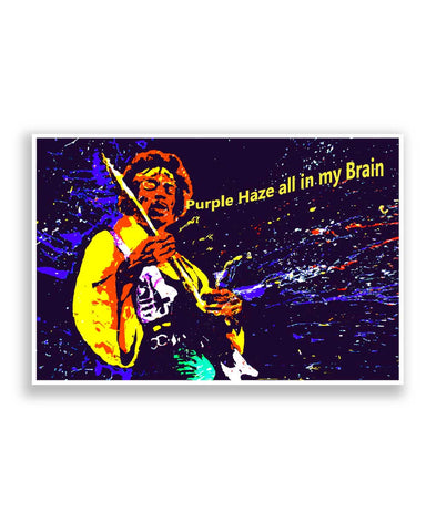 Buy Music Posters Online | Purple Haze Jimi Hendrix Poster | PosterGuy.in