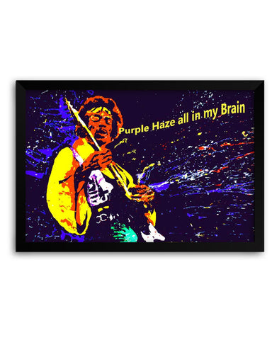 Framed Poster | Purple Haze Jimi Hendrix Framed Poster PosterGuy.in