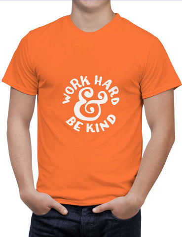 Buy Work Hard & Be Kind Woman T-Shirts Online India | Work Hard & Be Kind T-Shirt | PosterGuy.in
