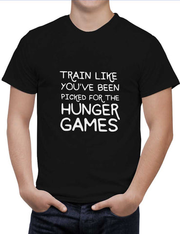 Buy Train for hunger games Woman T-Shirts Online India | Train for hunger games T-Shirt | PosterGuy.in
