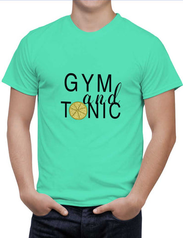 Buy Gym And Tonic Woman T-Shirts Online India | Gym And Tonic T-Shirt | PosterGuy.in