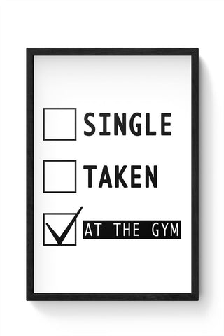 Framed Posters Online India | At The Gym | Funny Framed Poster Online India