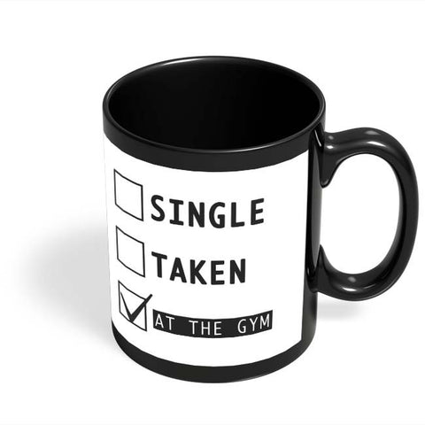 Coffee Mugs Online | At The Gym | Funny Black Coffee Mug Online India