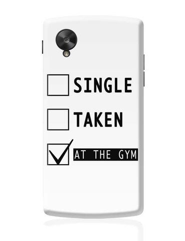 Google Nexus 5 Covers | At The Gym | Funny Google Nexus 5 Case Cover Online India