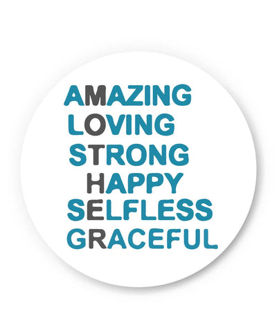 Amazing Loving Strong Happy Selfless Graceful Mother's Day Gift  Typography illustration Fridge Magnet Online India