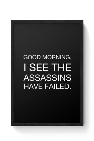Framed Posters Online India | Good Morning! Funny Laminated Framed Poster Online India