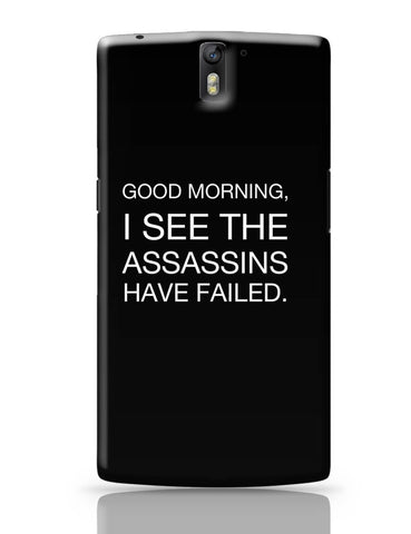 OnePlus One Covers | Good Morning! Funny OnePlus One Cover Online India