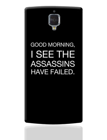Good Morning! Funny OnePlus 3 Cover Online India