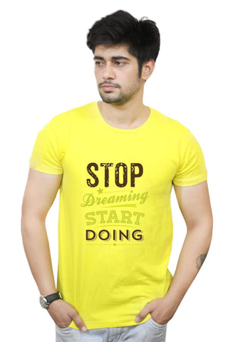 Buy Funny T-Shirts Online India | Nasscom 10000 Startups 'stop Dreaming Start Doing' T-Shirt Funky, Cool, T-Shirts | PosterGuy.in
