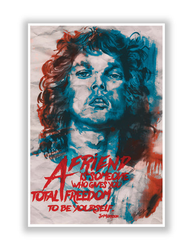 Buy Music Posters Online | Jim Morrison A Friend is Someone Quote Poster | PosterGuy.in