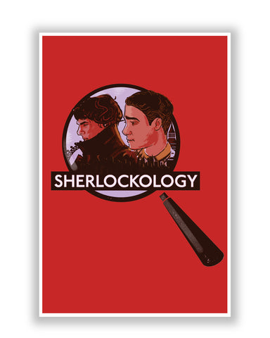 Buy TV Posters Online | Sherlockology Sherlock Holmes Magnifying Glass Poster | PosterGuy.in
