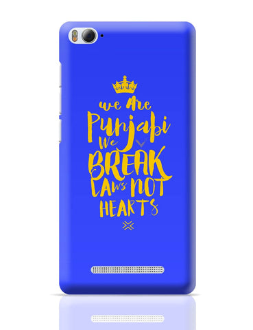 Xiaomi Mi 4i Covers | We are Punjabis, We break Laws not Hearts Blue Xiaomi Mi 4i Cover Online India
