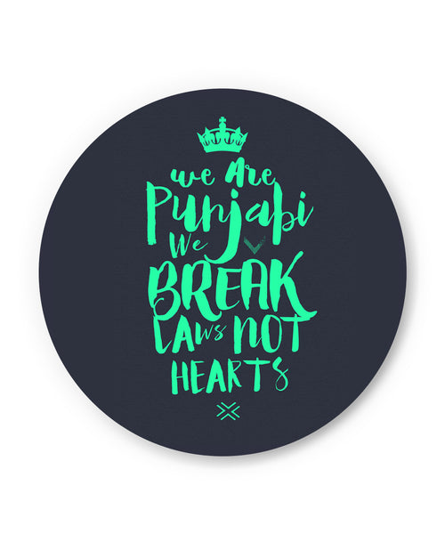 We are Punjabis, We break Laws not Hearts Grey Fridge Magnet Online India